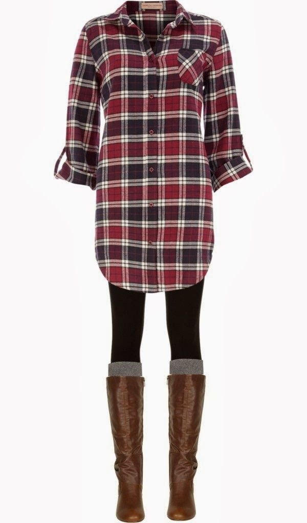 nordstrom oversized flannel, black spandex, tall socks, steve madden boots (or hunter books)