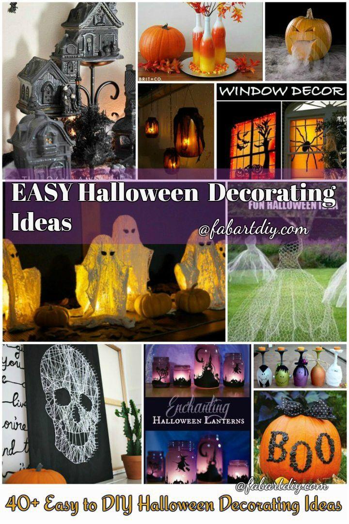 40+ Easy DIY Halloween Decorating Ideas Halloween party