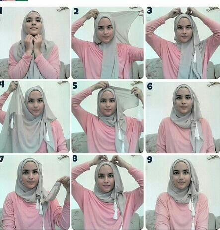 Easy Hijab Tutorial Easy Hijab Tutorial Pinterest