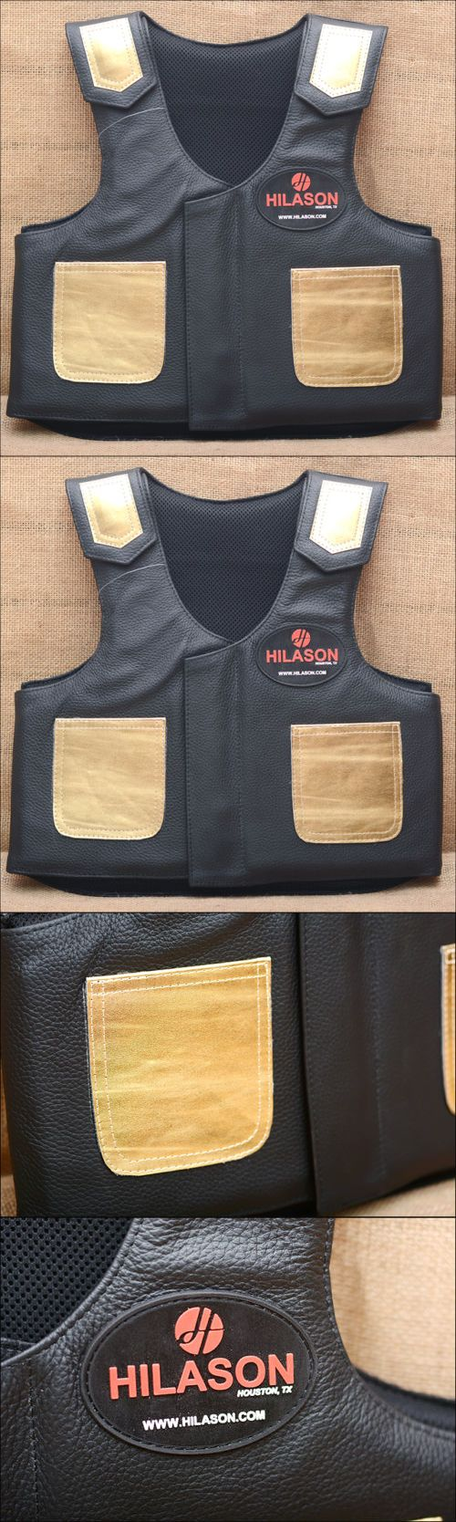 Other Protective Gear 87446: Pv201ya Hilason Kids Junior Youth Horse Riding Pro Rodeo Leather Protective Vest -> BUY IT NOW ONLY: $84.99 on eBay!
