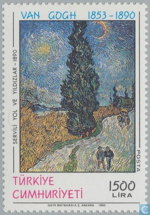 Postage Stamps - Turkey - Dodendag by Vincent van Gogh