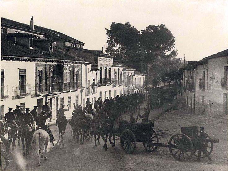 Spain - 1936-39. - GC - Columna republicana marcha hacia Zaragoza