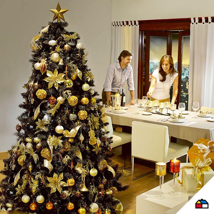 Una navidad con un toque de glamour #Sodimac #Homecenter #Perú #navidad #celebracion #hogar #inspiración #decoracion #homedecor