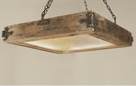 Reclaimed Wood Ceiling light, which is part of Shades of Light Eco-home collection. The sustainable ceiling light is made from reclaimed wood flooring, antique barn hinges and recycled glass with an energy efficient bulb. The rustic feel of the light would make it perfect for an old Southern house or a beach cottage.