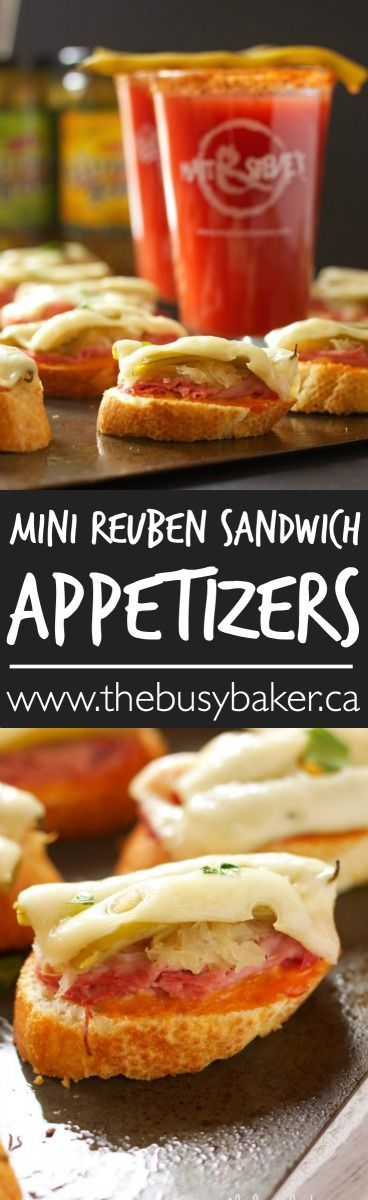 The Busy Baker: Mini Reuben Sandwich Appetizers (and GIVEAWAY!):