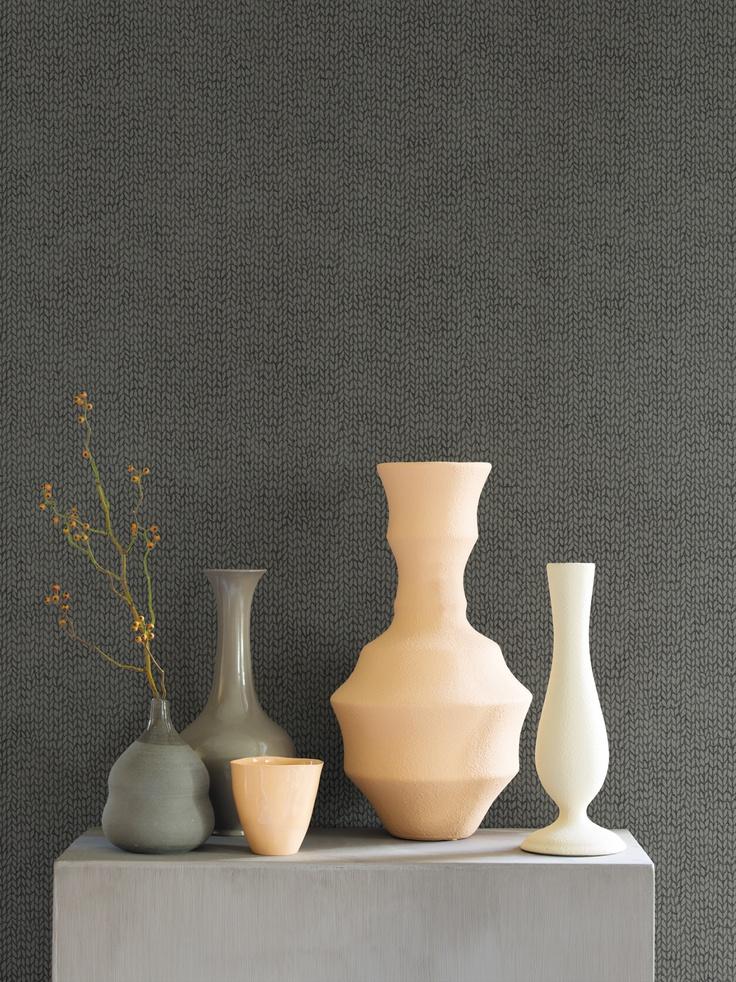 Grey Wallpaper / Grijs Behang collectie Essentially Yours - BN Wallcoverings