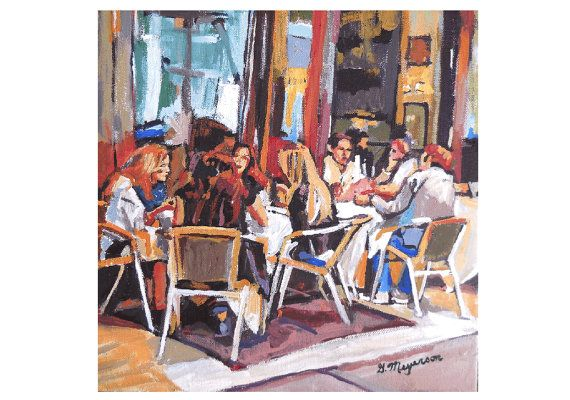 Outdoor SoHo Cafe New York City NYC Urban Fine Art by GwenMeyerson, $20.00