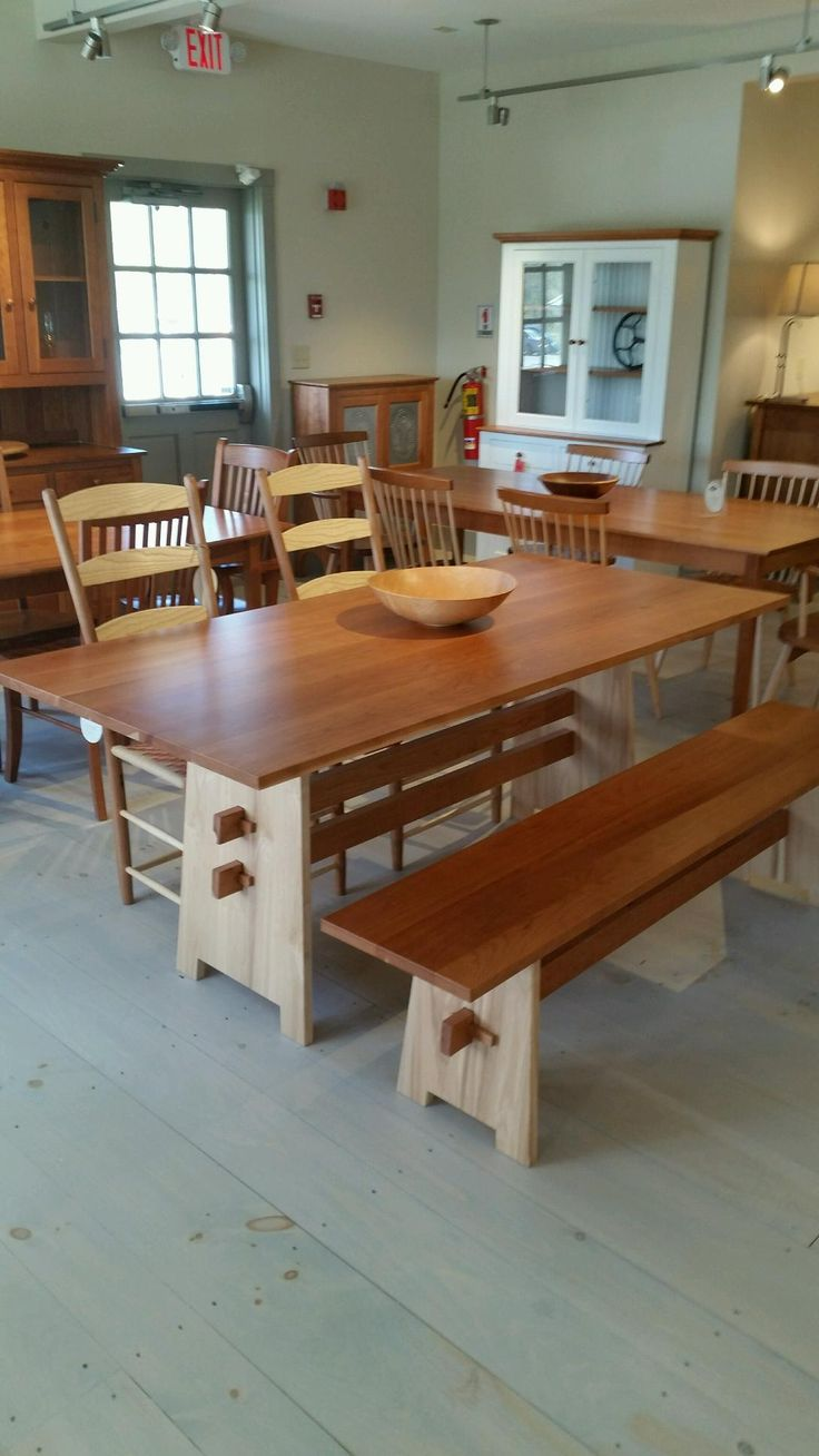 Our newly renovated shaker gallery baldwin trestle table for Furniture 888