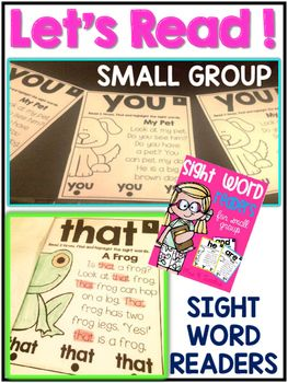 Sight Word Readers a free resource.