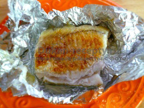 Рыба жареная в фольге - Рецепты для диеты Дюкана   Рецепты для диеты Дюкана