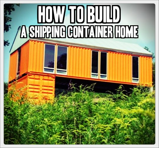 We here at the ranch love the idea of taking a shipping container and turning it into a home - Shipping container home building code ...