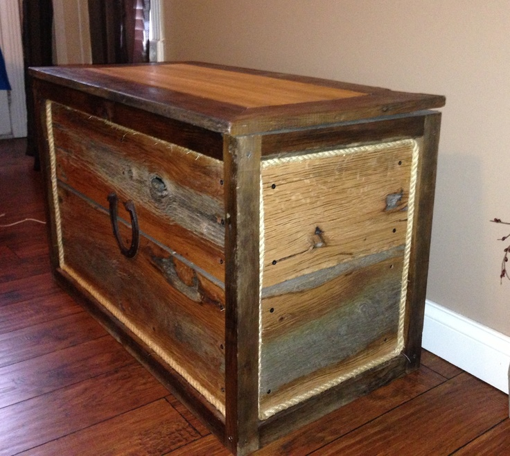 Rough Cut Barn Lumber Handcrafted Into A Beautiful Chest Great For Storage