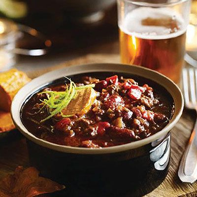 Heston's Rich chilli con carne with spiced butter, great bonfire night food #cosyautumn