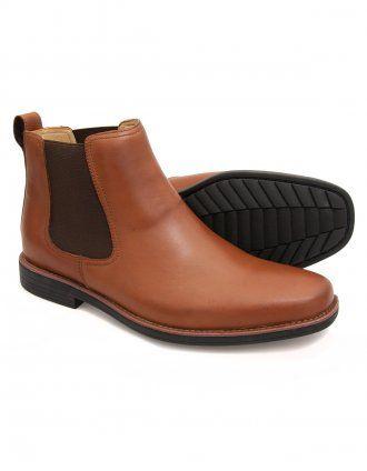 Steptronic Austin - Cognac Leather Chelsea boot