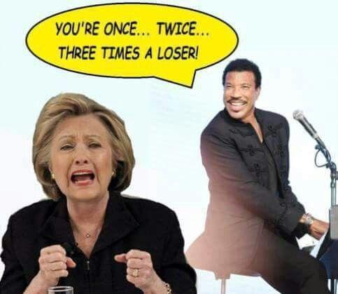 Oh nooooo... BWHAHAHAHAHA!!! Awwww... Hillary, three times a loser...