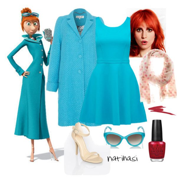 """DIY Halloween Costume: Lucy Wilde from Despicable Me 2"" by natihasi on Polyvore"