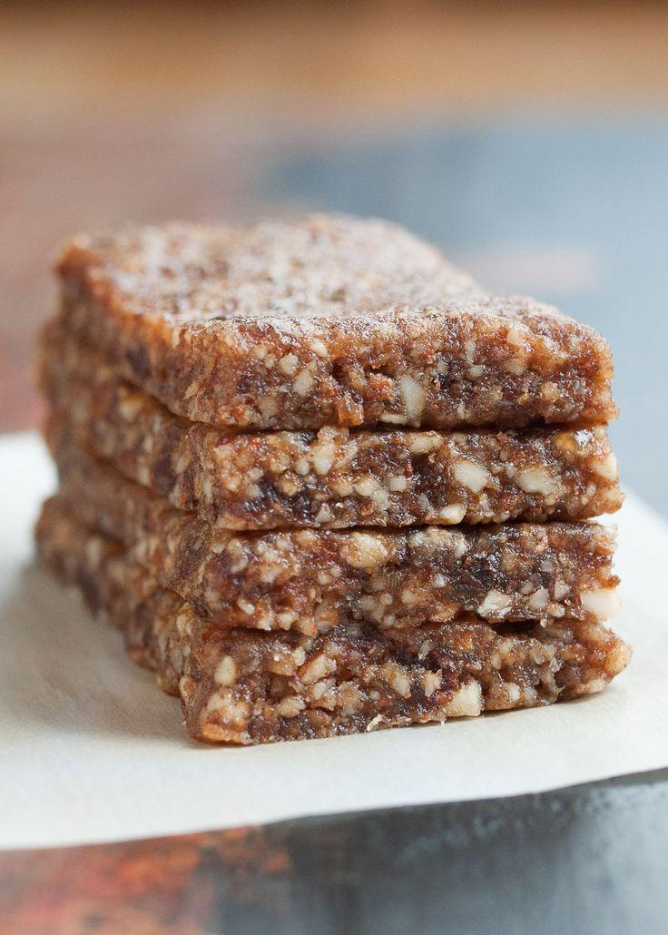 "Gingerbread Energy Bars- aka. Homemade ""Larabars"" | Gluten-free, Paleo, Vegan, Raw | www.nutritiouseats.com"