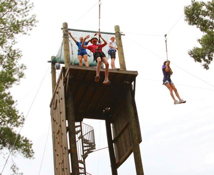 Pine Cove camp ...High Ropes Zip Line