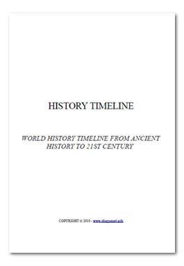 Free eBook (PDF download) World History Timeline