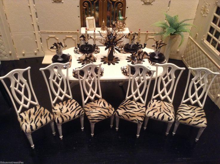 Barbie OOAK Monster High Bratz Doll House Dining Room Furniture Set W  EXTRAS | EBay