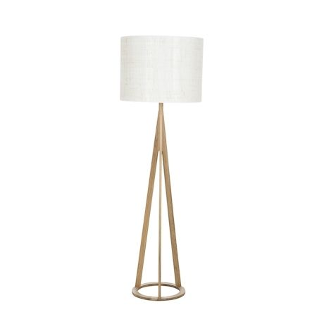 Mason Floor Lamp Oak Colour with Shade | Freedom Furniture and Homewares