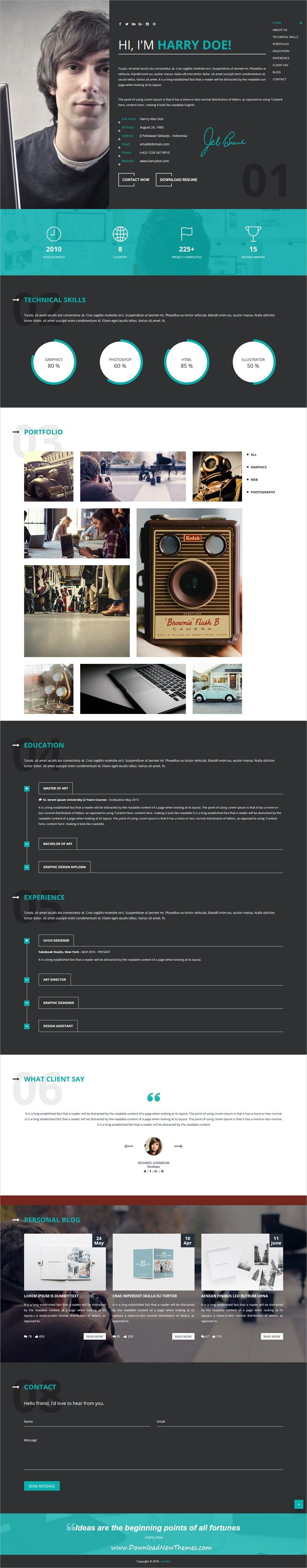 Perfect is clean and modern design multipurpose responsive #HTML template for creative #resume #CV and #portfolio showcase website with 45+ niche homepage layouts download now..