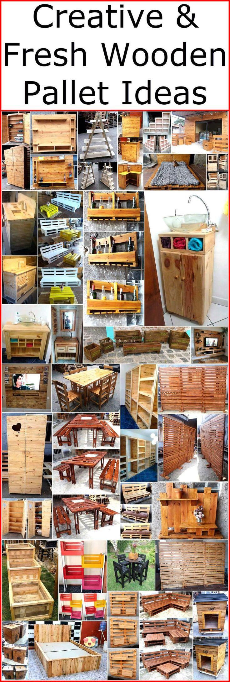 Creative & Fresh Wooden. These pallet ideas ...