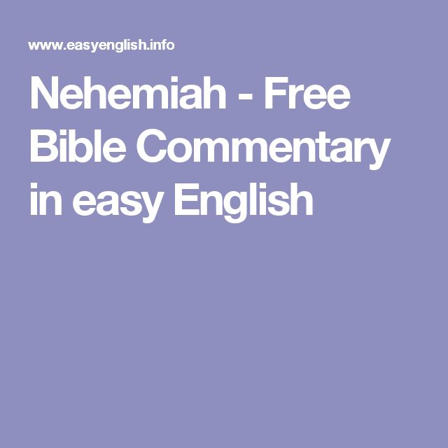 Nehemiah - Free Bible Commentary in easy English