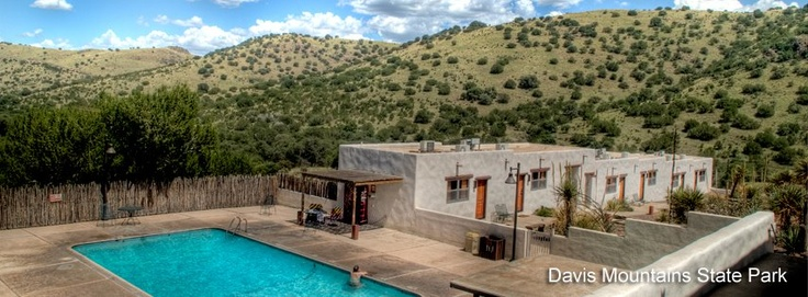 """""""Indian Lodge"""" at Davis Mountains State Park near Marfa, Texas, and on the way to Big Bend National Park"""