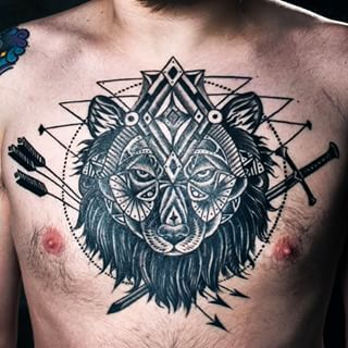 "(Robb Stark's secret chest tattoo, obvi) | 27 Breathtakingly Badass ""Game Of Thrones"" Tattoos"