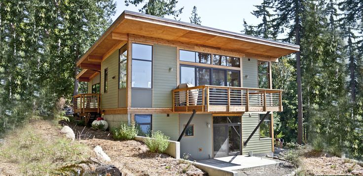 17 best images about steep slopes on pinterest montana for Lake house plans for steep lots
