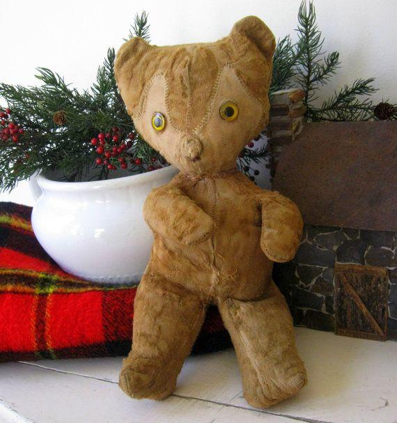 Antique Stuffed Teddy Bear from 1910.