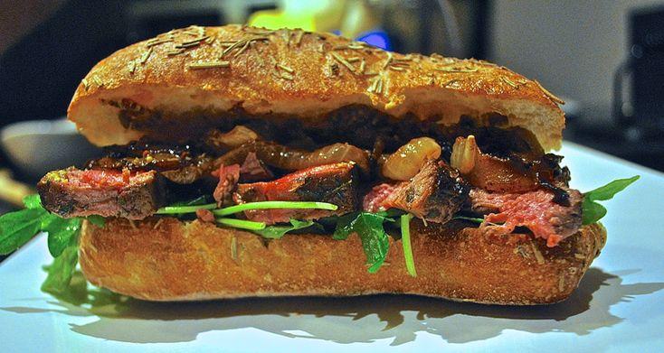 "Sandwich #19–""Working Late"" Prime Rib Steak Sandwich with Caramelized Onions #300sandwiches"