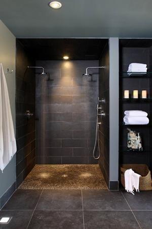 Bekijk de foto van gos met als titel grijs dubbele douche en andere inspirerende plaatjes op Welke.nl.