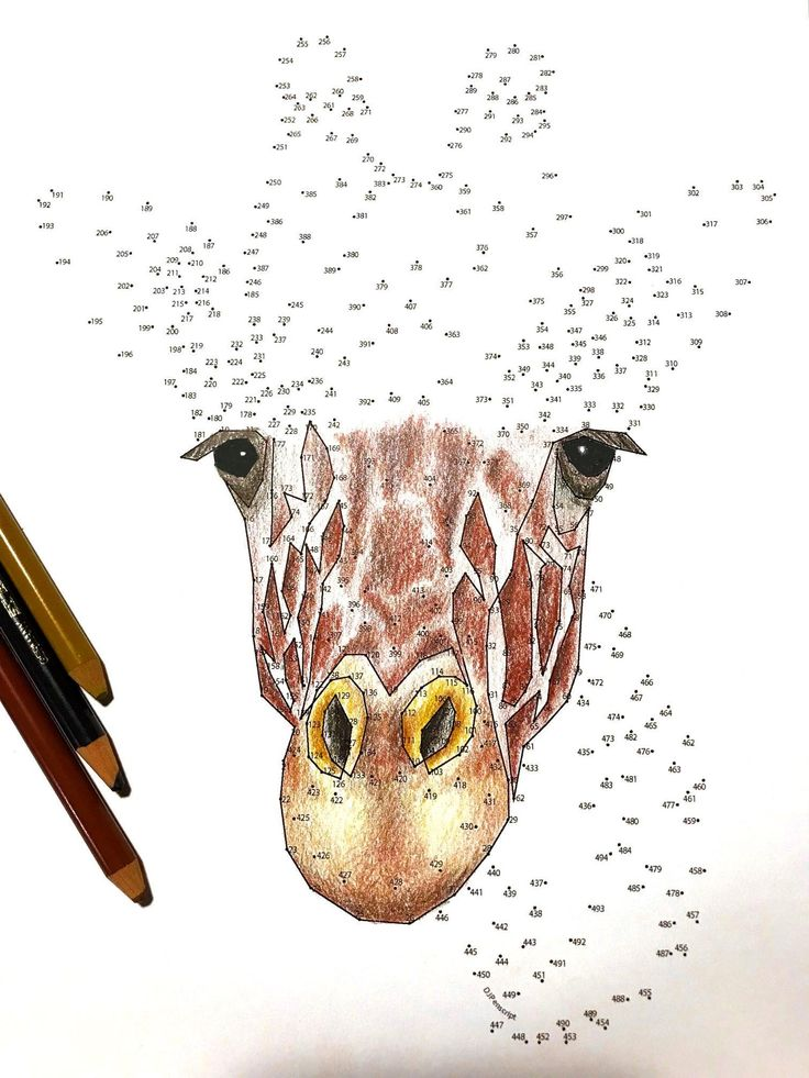 Giraffe Extreme Dot to Dot PDF Activity and Coloring Page ...