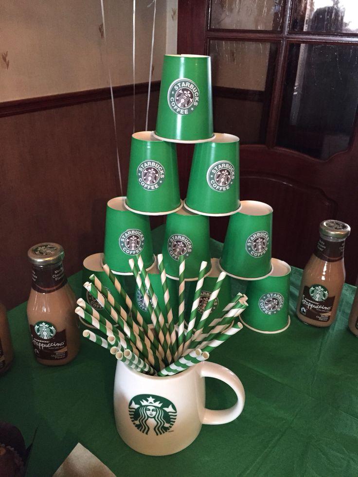 Starbucks theme 30th birthday party