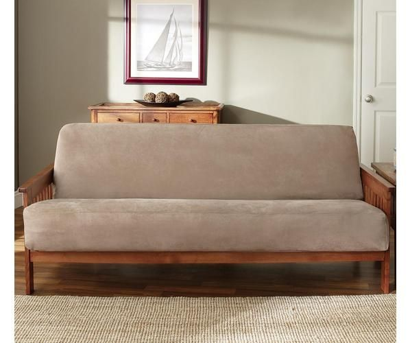 Sure Fit Soft Suede Full Size Futon Mattress Cover