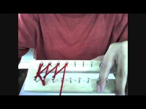Como hacer una bufanda (telar manual)
