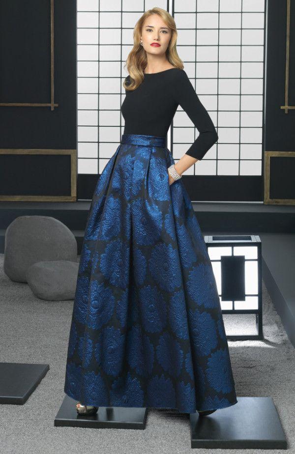 El color en los Vestidos de fiesta Rosa Clara Otoño Invierno 2015-2016 modelo dos partes