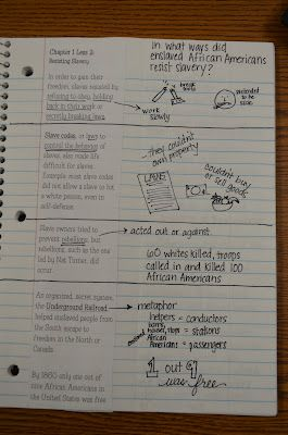 Here's a post with lots of good examples of interactive notebook entries.
