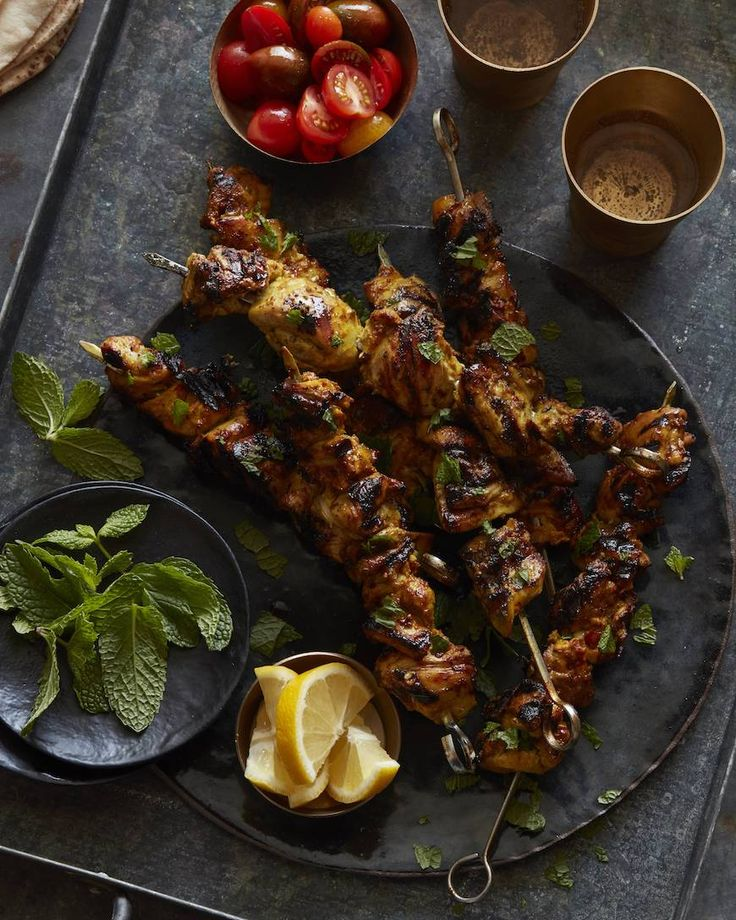 The most gorgeous Moroccan Chicken Skewers made with @mccormickspices Turmeric from www.whatsgabycooking.com (@whatsgabycookin)
