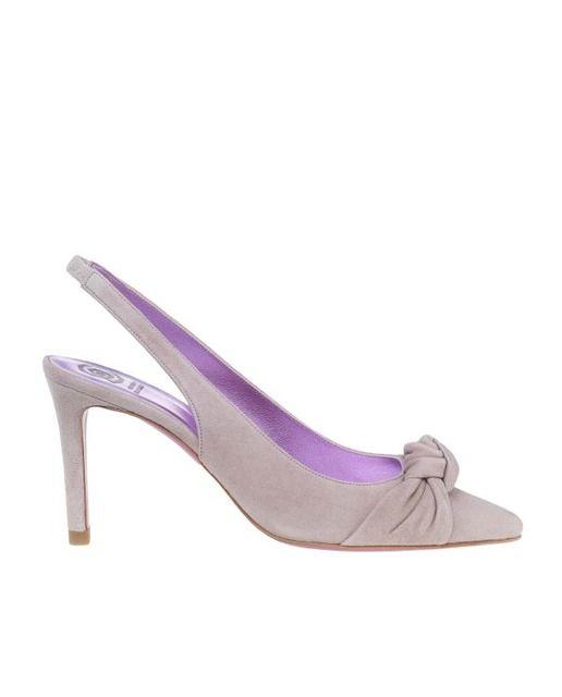 Zapatos de salón de mujer Ursula Mascaró en ante beige