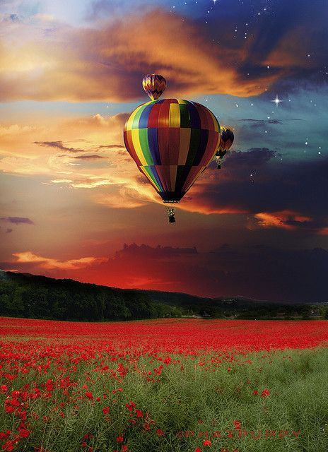 I want to do that.Ballooning over the red field....