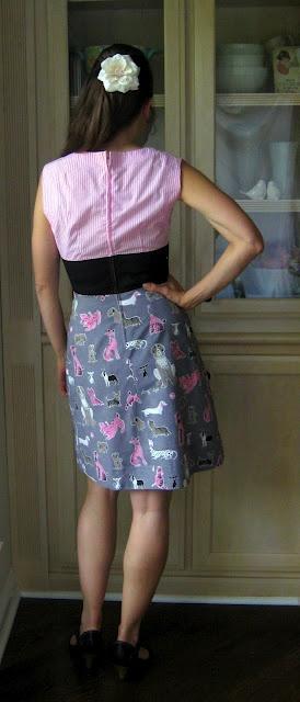 back of diy dress