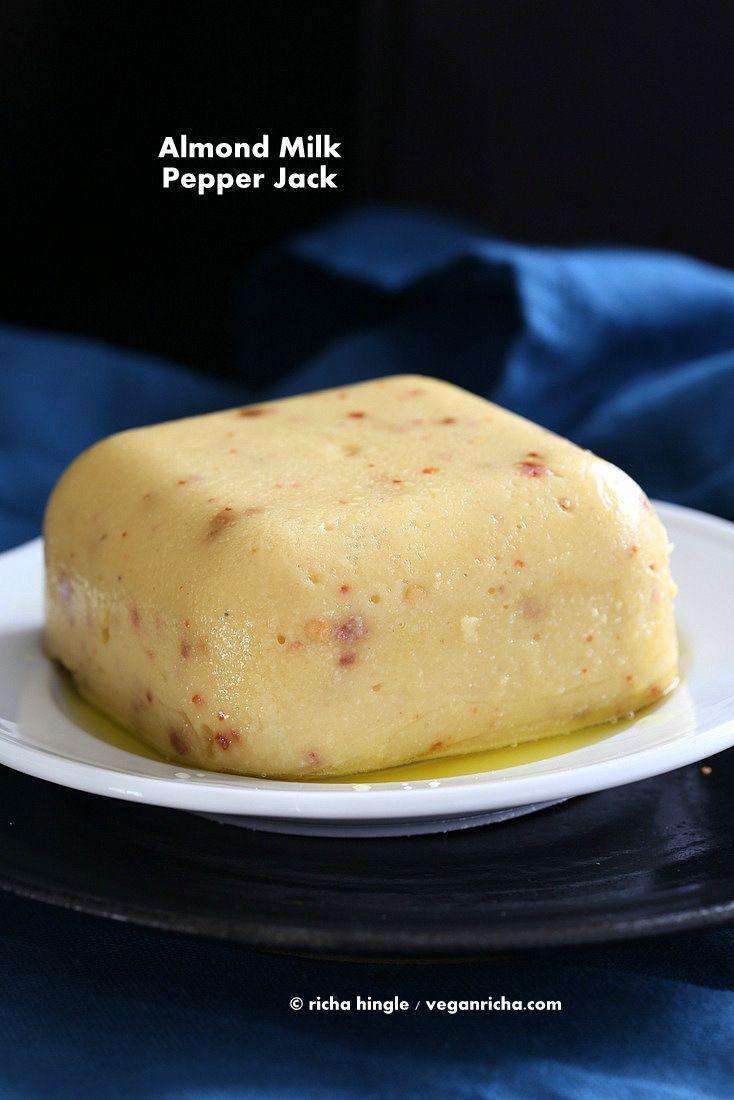 Vegan Pepper Jack Cheese with Almond Milk. Glutenfree Recipe - Vegan Richa