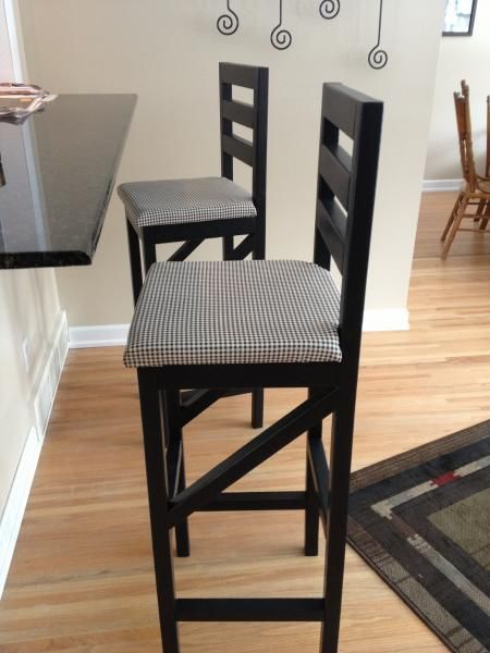 Extra tall bar stool | DIY-- could cover with a cute print?