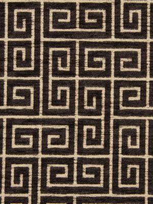 Black Velvet Greek Key Fabric For Furniture Upholstery   Heavyweight Velvet    Greek Key Headboard Material