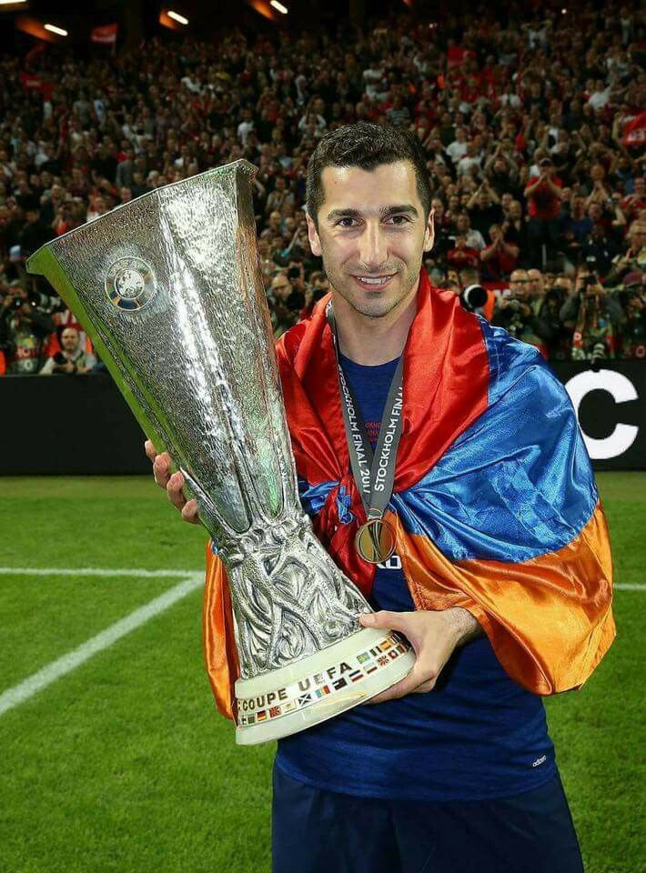 Henrikh Mkhitaryan's Manchester United are UEFA Europe League champions!    Mkhitaryan Creates History: He is the first Armenian to score in a UEFA Europa League/UEFA Cup final.