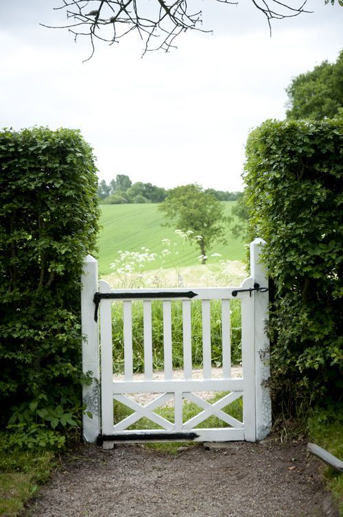 Every garden needs a garden gate♥