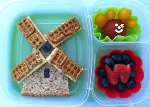 Windmolen, leuk idee voor een Hollandse thema lunch!